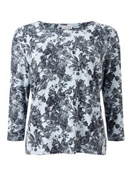 Eastex Balmoral Lace Print Top Blue