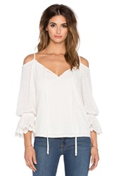 Vava By Joy Han Hyria Open Shoulder Top White