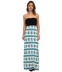 Hurley Tomboy Maxi Strapless Dress Radiant Emerald Women's Dress Green