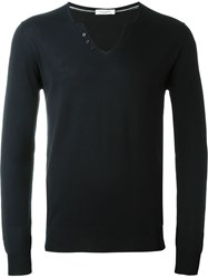 Paolo Pecora Buttoned Collar Jumper Blue