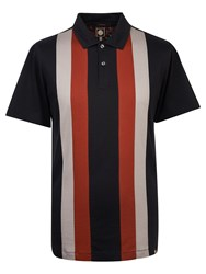 Pretty Green Men's Brindle Polo Black