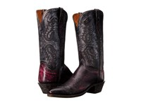Lucchese N4536 4 4 Black Cherry Anthracite Women's Boots Brown