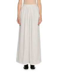 Giorgio Armani Georgette Wide Leg Pants Light Gray Light Grey