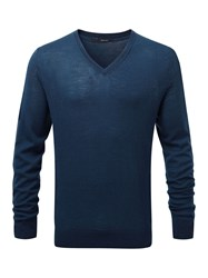 Henri Lloyd Kinton Fitted V Neck Knit Navy