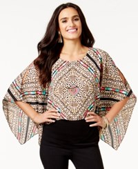 Thalia Sodi Embellished Batwing Top Only At Macy's Washed White Multi