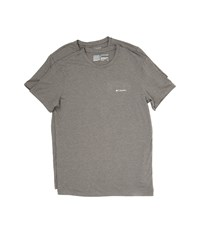 Columbia Performance Cotton Crew T Shirt 2 Pack Dark Grey Heather Men's Underwear Gray