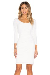 Velvet By Graham And Spencer Gini Stretch Jersey 3 4 Sleeve Dress White