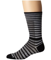 Wrightsock Cool Mesh Striped Crew Single Pack Black White Crew Cut Socks Shoes
