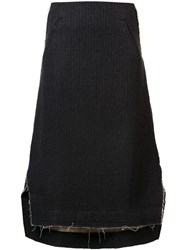 Song For The Mute A Line Midi Skirt Black