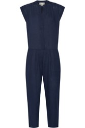 Sea Cotton Voile Jumpsuit Indigo