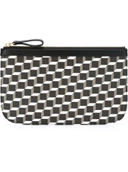 Pierre Hardy Geometric Print Zip Wallet Black
