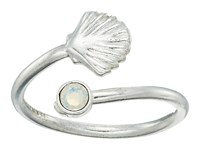 Alex And Ani Shell Wrap Ring Silver Ring