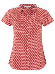 White Stuff Fan Print Shirt Indian Ora