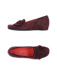 Pas De Rouge Moccasins Deep Purple