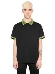 Christopher Kane Harlequin Detail Cotton Jersey Polo