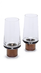 Tom Dixon Tank High Ball Glasses Set Clear Copper