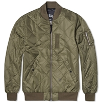 Stussy Quilted Ma 1 Bomber Jacket Olive