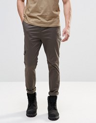 Asos Skinny Cargo Trousers In Khaki Khaki Green