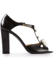 Moschino Cheap And Chic Peep Toe Sandal Black
