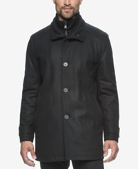 Marc New York Strafford Wool Blend Bibby Car Coat Black