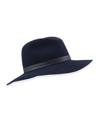 Rag And Bone Rag And Bone Wide Brim Wool Fedora Navy