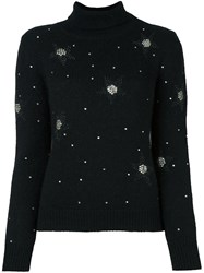 Saint Laurent Star Embellished Jumper Black