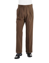 Lauren Ralph Lauren Mid Weight Pleated Wool Trouser Pants Light Brown