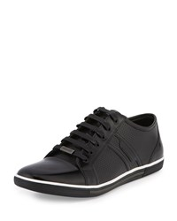Kenneth Cole Both Feet Down Perforated Leather Sneaker Black