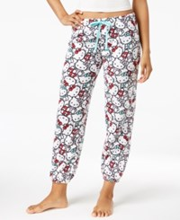 Hello Kitty Plush Jogger Pajama Pants Multi Kitty