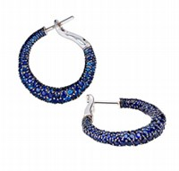 Faberge Emotion Blue Sapphire Hoop Earrings
