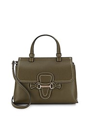 Valentino By Mario Valentino Diane Dol Leather Handbag Army Green