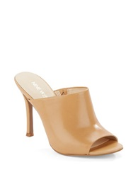 Nine West Funny How Peep Toe Mules Light Natural