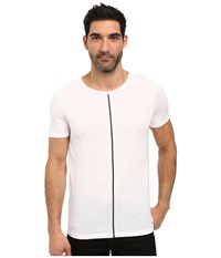 Hugo Divoli Short Sleeve Crew With Stripe White Men's Clothing