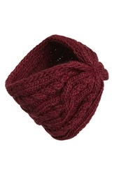 Women's Michael Michael Kors Cable Knit Headband Purple Merlot