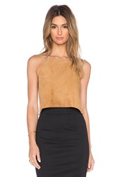 Cami Nyc The Suede Crop Top Tan