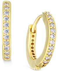 Eliot Danori Gold Tone Crystal Pave Huggy Hoop Earrings Only At Macy's