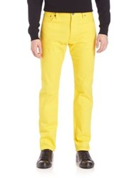 Ralph Lauren Purple Label Straight Leg Jeans Lemon