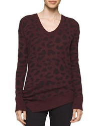 Calvin Klein Jeans Animalia Printed Long Sleeve Pullover Red