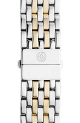 Women's Michele 'Deco' 18Mm Two Tone Bracelet Watch Band Silver Gold