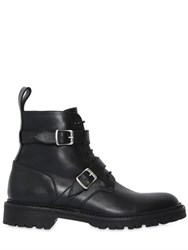 Saint Laurent 20Mm Army Double Buckle Leather Boots