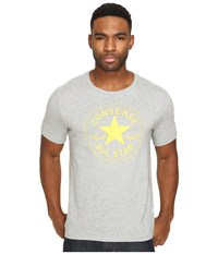 Converse Rubber Core Patch Tee Vintage Grey Heather Men's T Shirt Gray