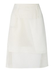 Armani Jeans Knee Length Mesh Skirt White