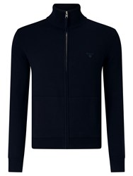 Gant Zip Through Jumper Navy