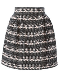 Olympia Le Tan Knitted Circle Skirt Pink And Purple