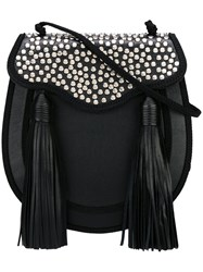 Saint Laurent 'Opium 2' Studded Tassel Bag Black