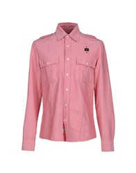 Blauer Shirts Shirts Men Red