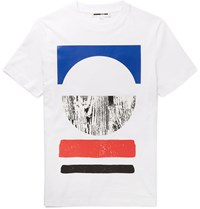 Mcq By Alexander Mcqueen Slim Fit Printed Cotton T Shirt White