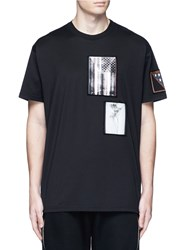 Givenchy American Flag Print Patch T Shirt Black