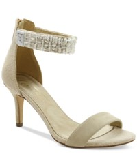 Nanette Lepore By Betsy Beaded Two Piece Sandals Only At Macy's Women's Shoes White