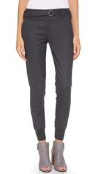 Vince Belted Rib Cuff Jogger Pants Charcoal